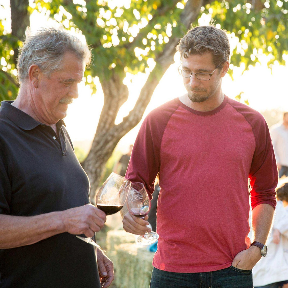 Father and son winemakers.