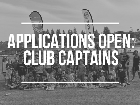 Apply to be our Club Captain