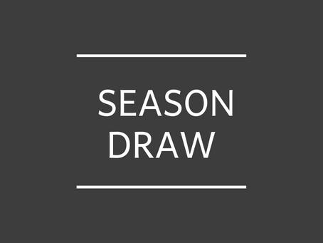 Season draw just released