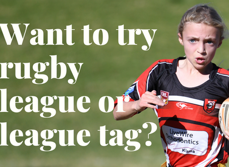'Come and try' rugby league or tag!