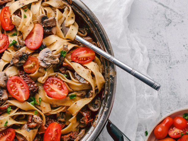 Mushroom Pasta w/ Sundried Tomatoes