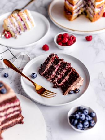 Naked Cake Slices