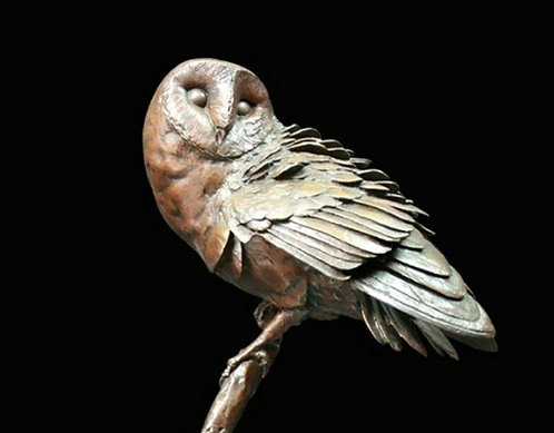 """Night Owl"" Bronze Sculpture by Michael Simpson. Limited Edition"