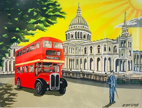 """Art Deco St Pauls"" original painting by Emma Childs"