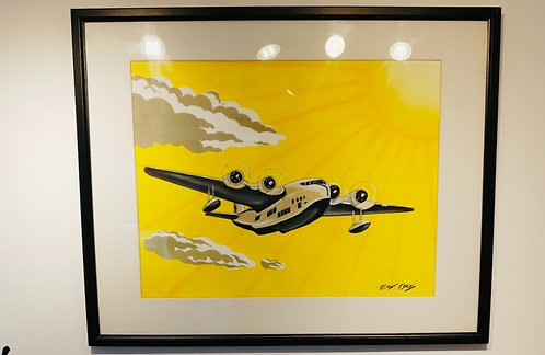 Art Deco Plane Original Painting by Emma Childs