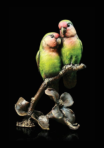 """Lovebirds"" Bronze Sculpture by Keith Sherwin"