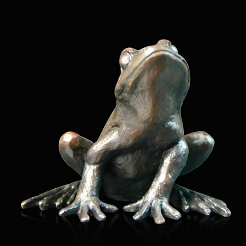 """Frog Alert"" bronze Sculpture by Keith Sherwin. Limited Edition."