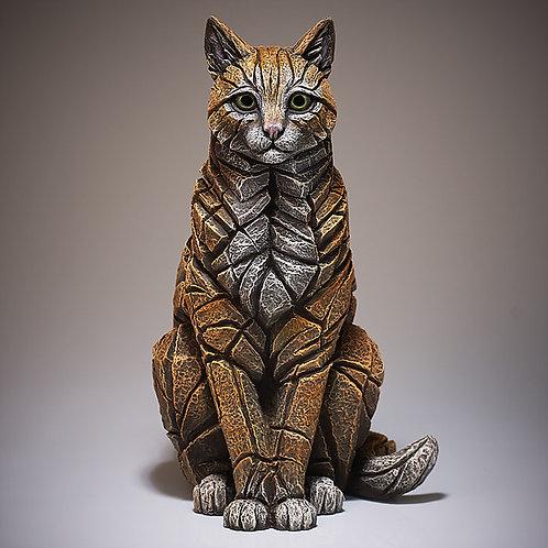 Sitting Ginger Cat Sculpture, by Matt Buckley