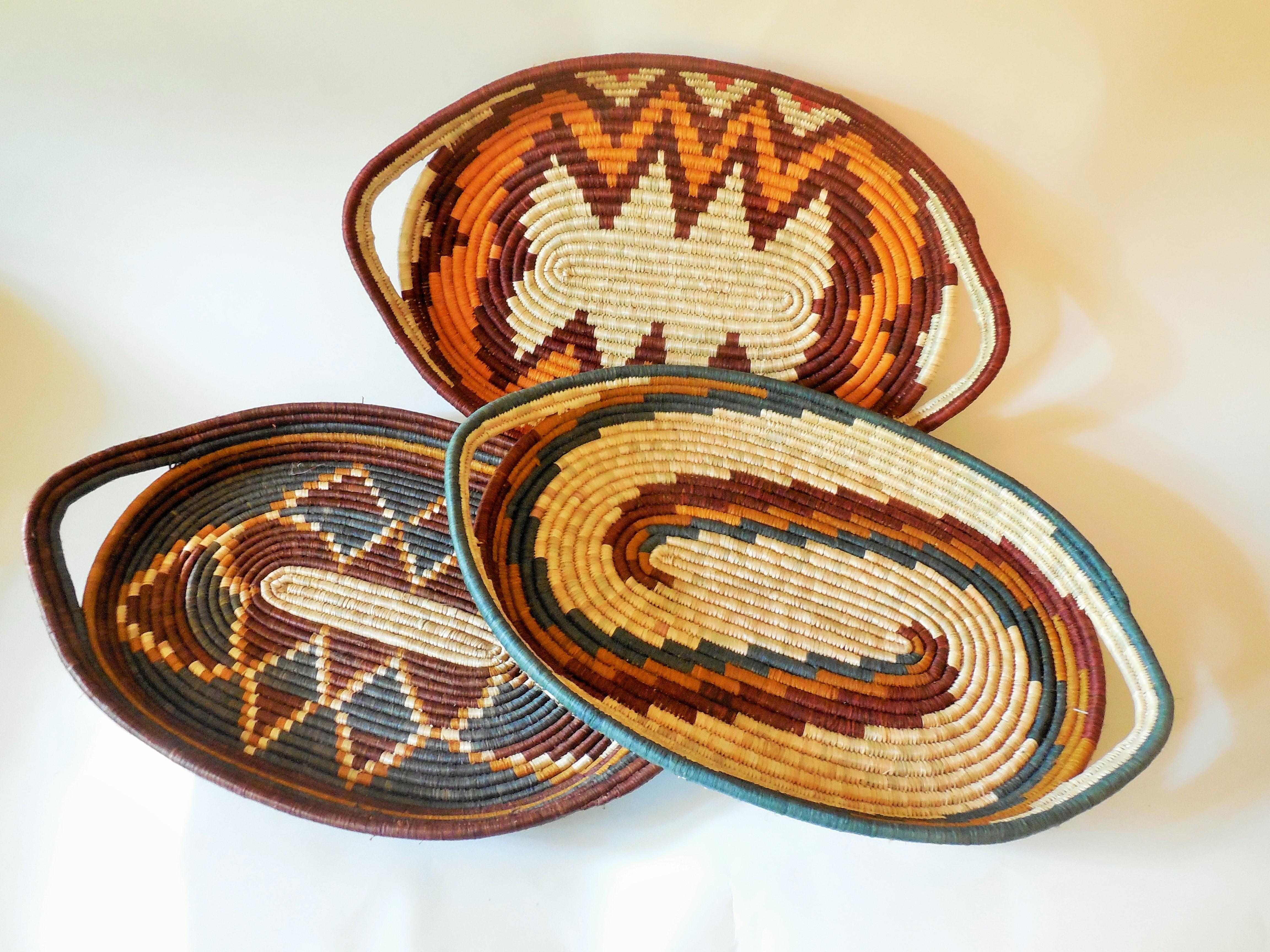 Ugandan Rwenzori Finely Woven Trays