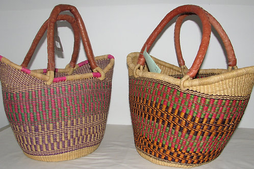 Bolga Sculpted Large  Shopping Basket