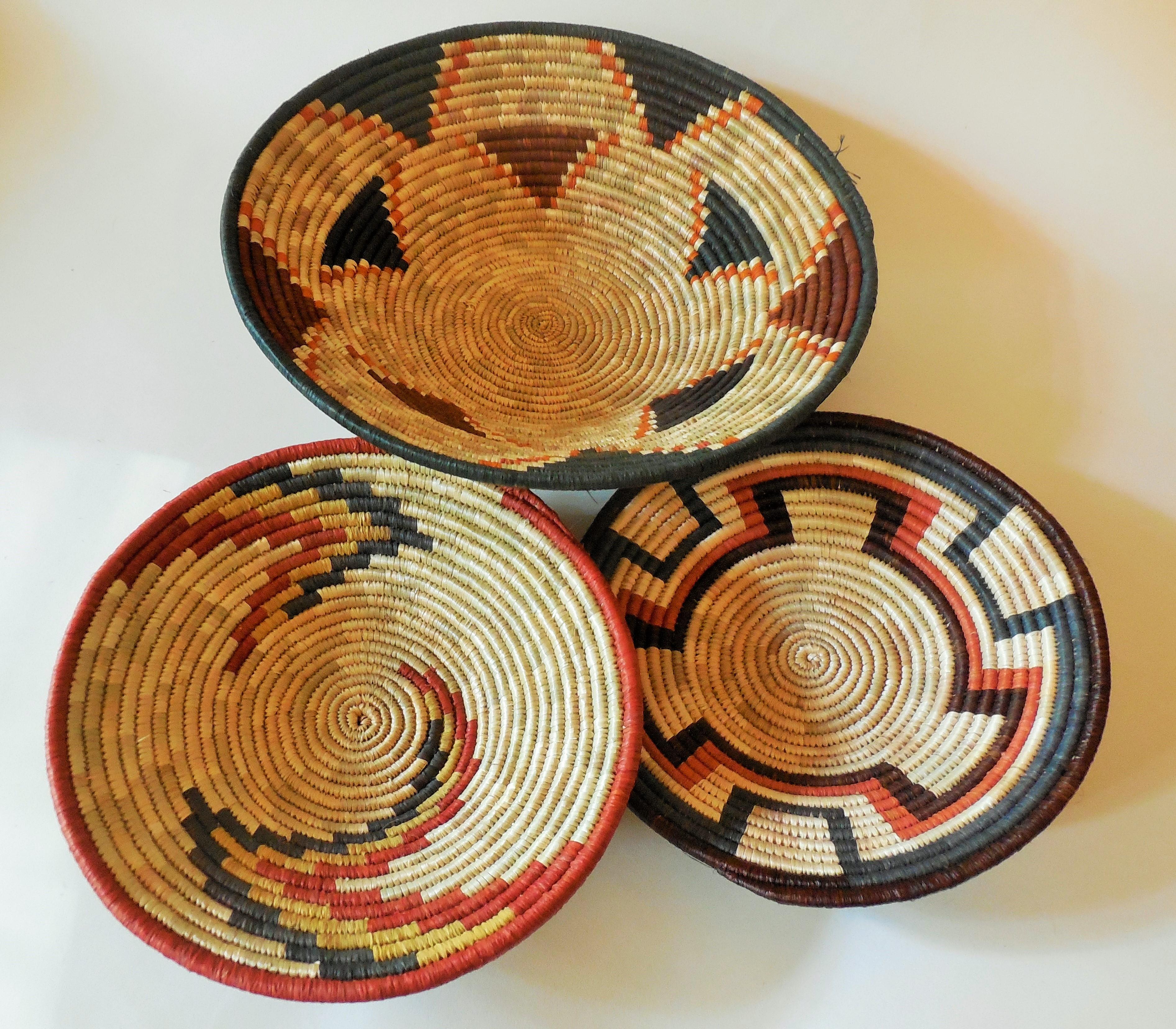 Finely Woven Rwenzori Shallow Bowls