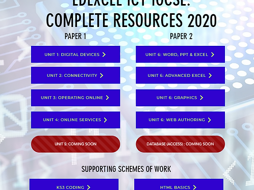 ICT IGCSE - COMPLETE SET OF RESOURCES (114 LESSONS)