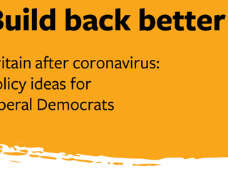 Build Back Better: Britain after coronavirus : Policy ideas for Liberal Democrats