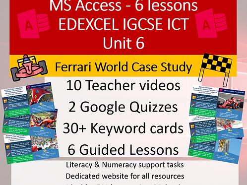 MS Access - Ferrari World Abu Dhabi case study - 6 lessons
