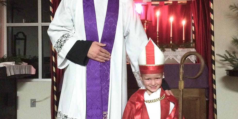 'Boy Bishop' for St. Nicholas Day