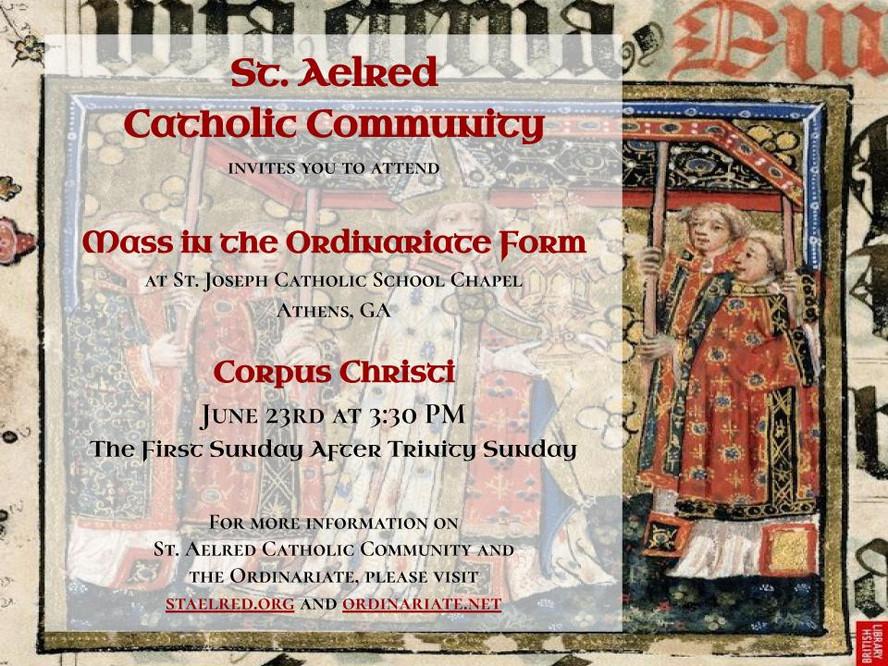 Corpus Christi Mass - 6/23
