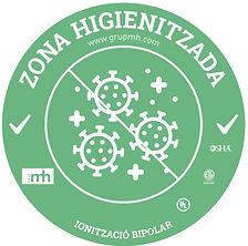 ETIQUETA ZONA HIGIENITZADA GRUP MH - HQ.