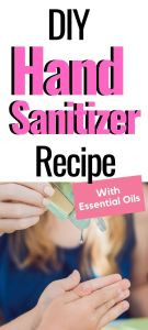 Hand sanitizer recipe with essential oils