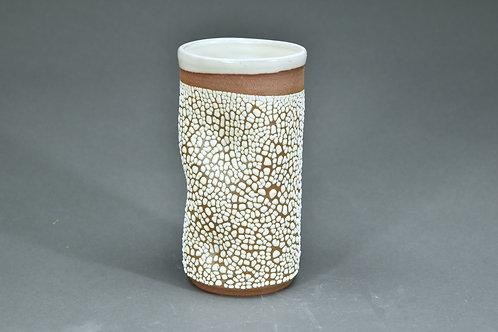 White Crawl Vase