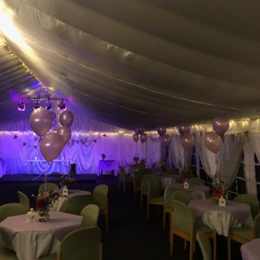 Pink Marquee Party Evening