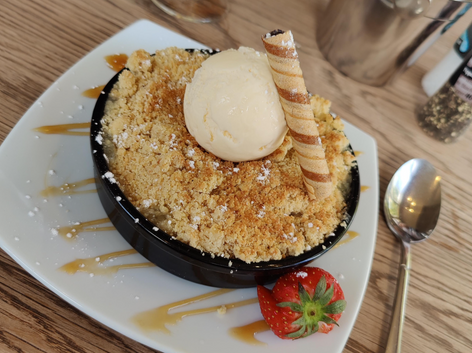 Crumble with Icecream - normal menu