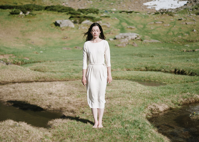 Frau in der Natur