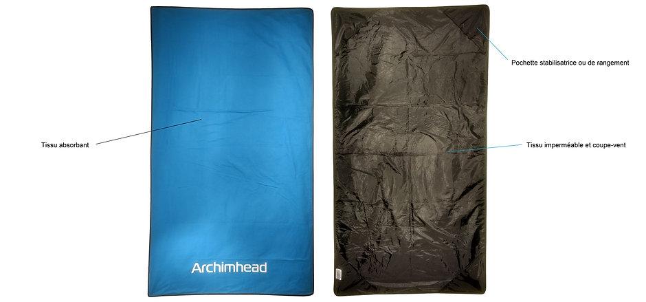Serviettes impermeable de Plein air Archimhead