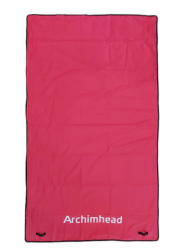 Couverture femme fontaine rose