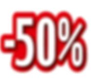 logo 50 % rabais