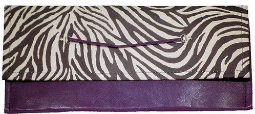Zebra Print Leather - Purple Leather