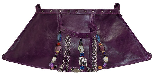 Purple Leather - Bracelet