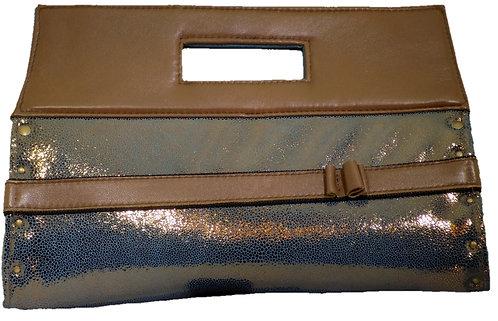 Metallic Bronze Leather - Brown Leather