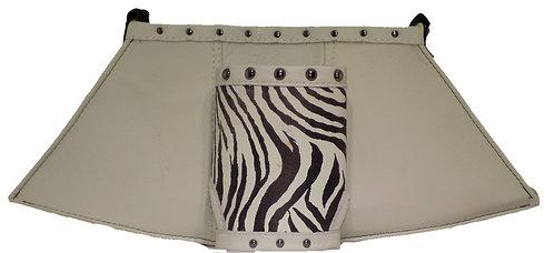 Zebra Print Leather / Ivory / Black Leather - Cuff