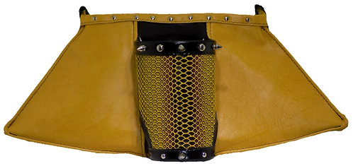 Bumblebee / Yellow / Patent Black Leather - Cuff