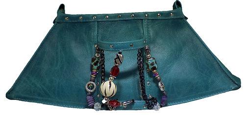 Teal Leather - Bracelet