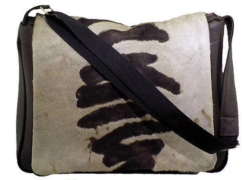 Brown/Natural Hair on Hide - Brown Leather