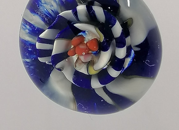 Implosion fleur bleue