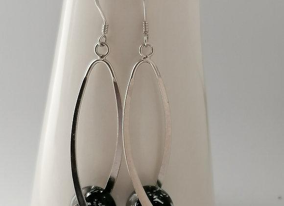 Boucles d'oreilles torsade + perles