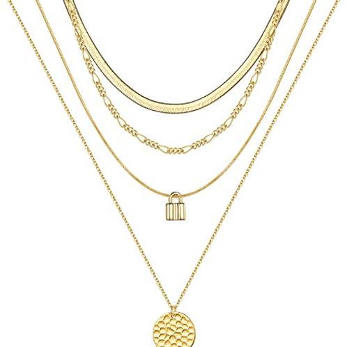 14K Plated Gold Necklace Set