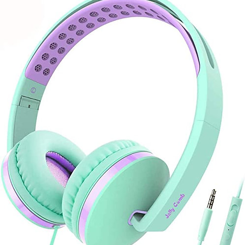 Kid Headphones (Aqua Green & Lavender Combo)