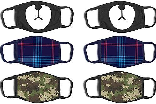 "6 pack Face Masks (4.3"" x 5.9"")"