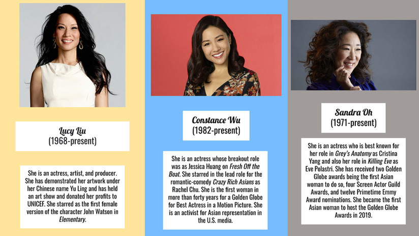 Lucy Liu, Constance Wu, Sandra Oh