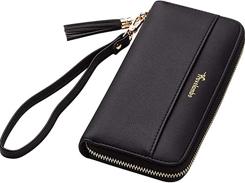 Wallet (Black, Faux Leather)