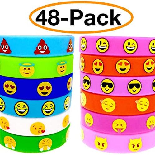 Emoji Wristbands (48pack)
