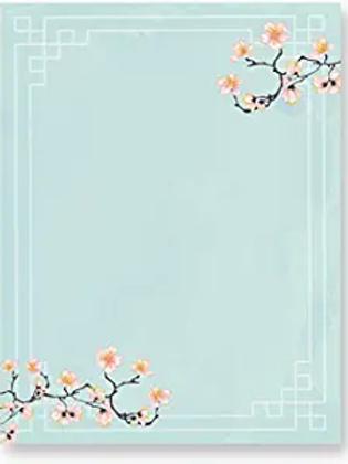 Cherry Blossom Stationary (100 Pack)