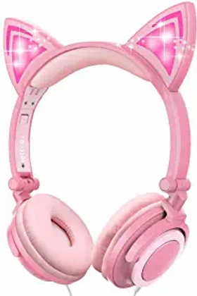 Cat Headphones (Peach Pink)