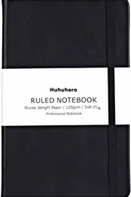 Black Faux Leather Notebook1