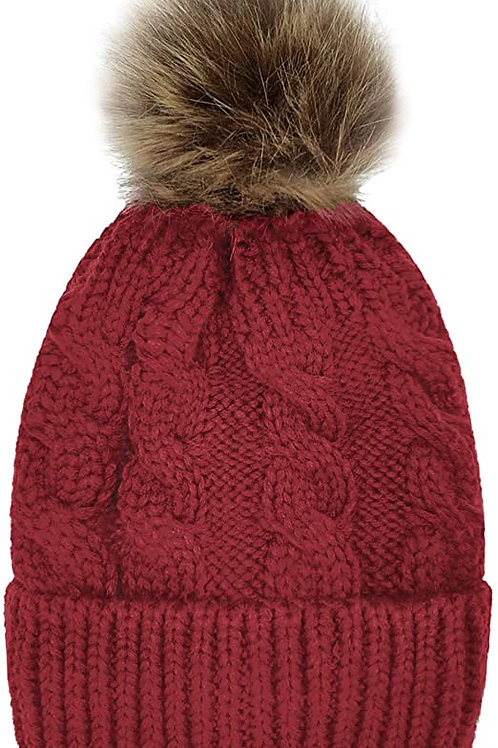 Toddler-Sized Beanie (Red)