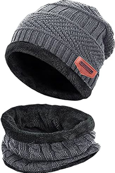 Knitted Beanie & Scarf Set (5-14 year olds)