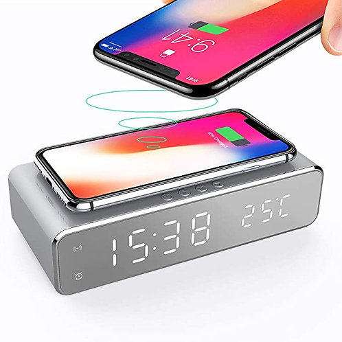 Alarm Clock with Wireless Charger
